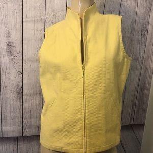 Eileen Fisher yellow vest petite medium EUC